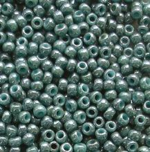 Toho 11/0 Seed Beads Marbled Turquoise Blue 1207 - 10 grams
